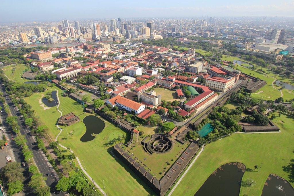 Aerial view of Intramuros, Manila