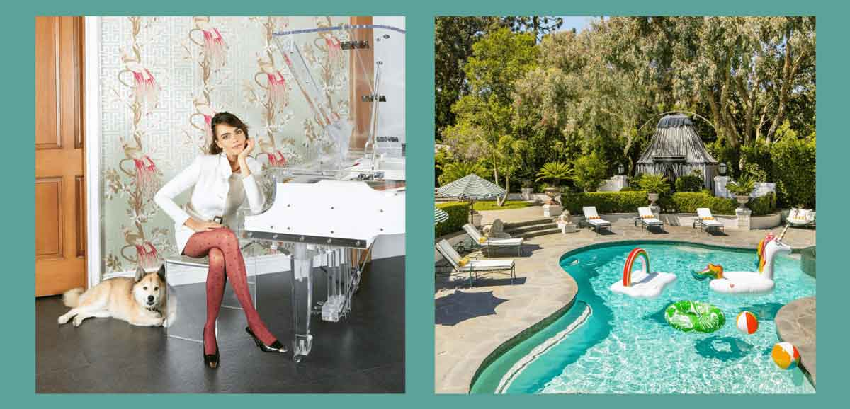 FreebieMNL - Cara Delevingne's Home is as Eccentric as Her