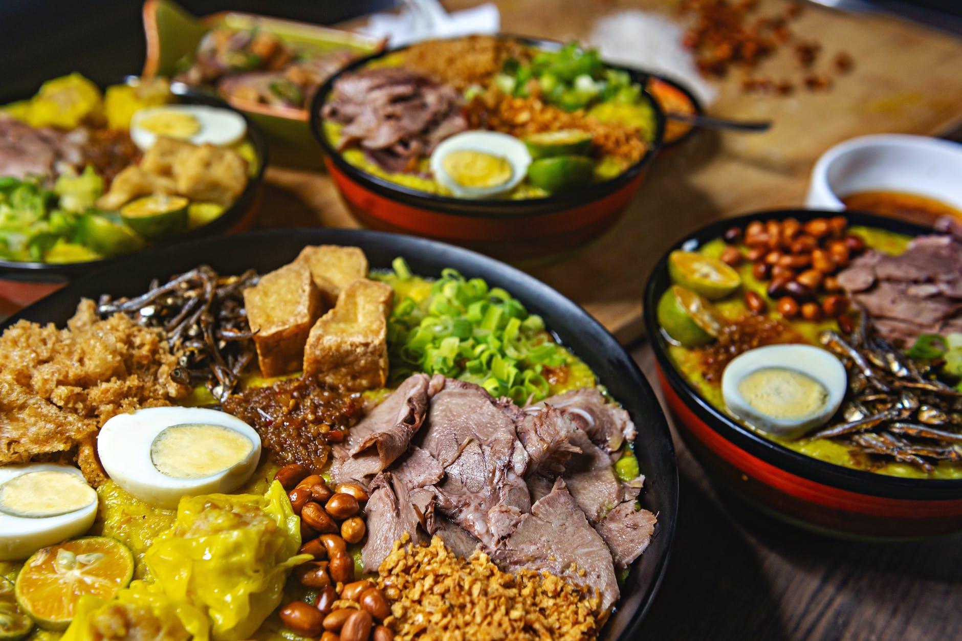 food plate restaurant dinner