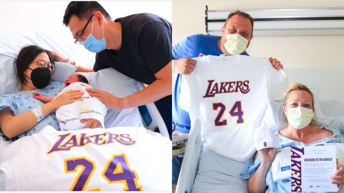 Lakers Give Out Care Packages for Babies Born on Kobe Day